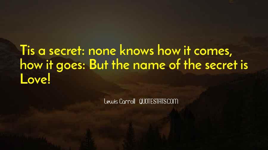 The Secret Love Quotes #312691