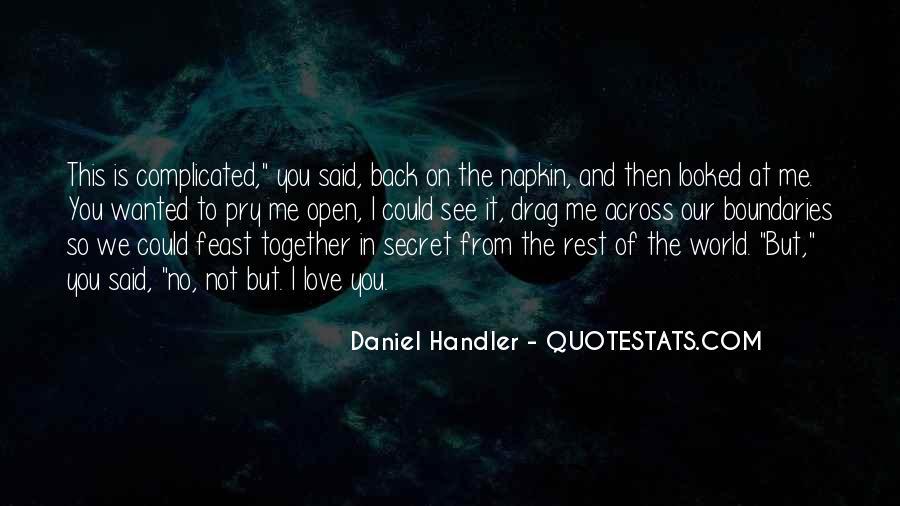 The Secret Love Quotes #47400