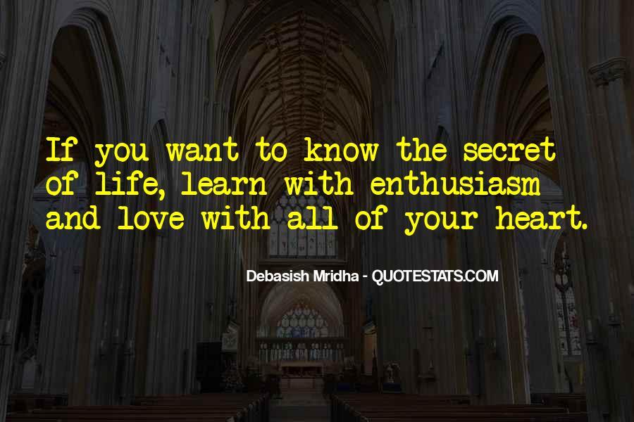 The Secret Love Quotes #508413