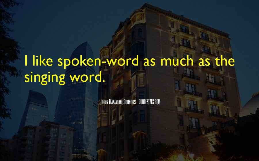 The Spoken Word Quotes #204041