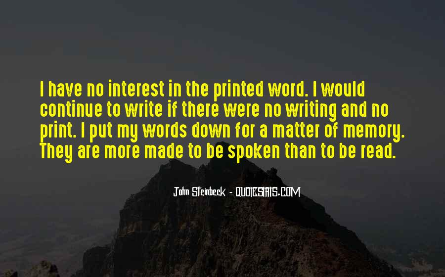 The Spoken Word Quotes #216793
