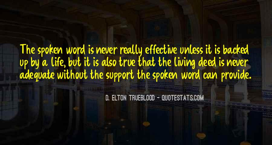 The Spoken Word Quotes #356809