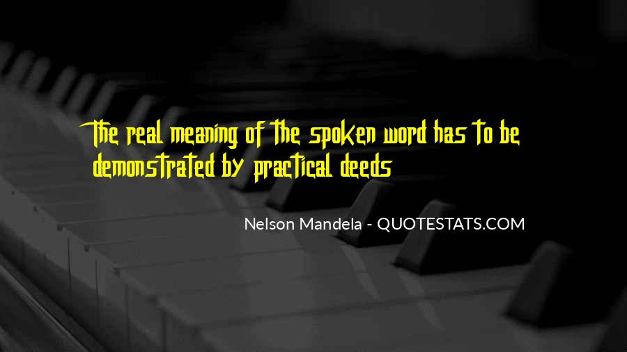 The Spoken Word Quotes #524463