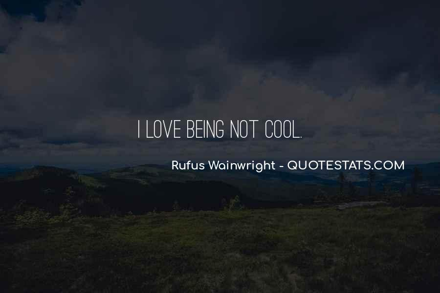 Quotes About Being Too Cool #102469