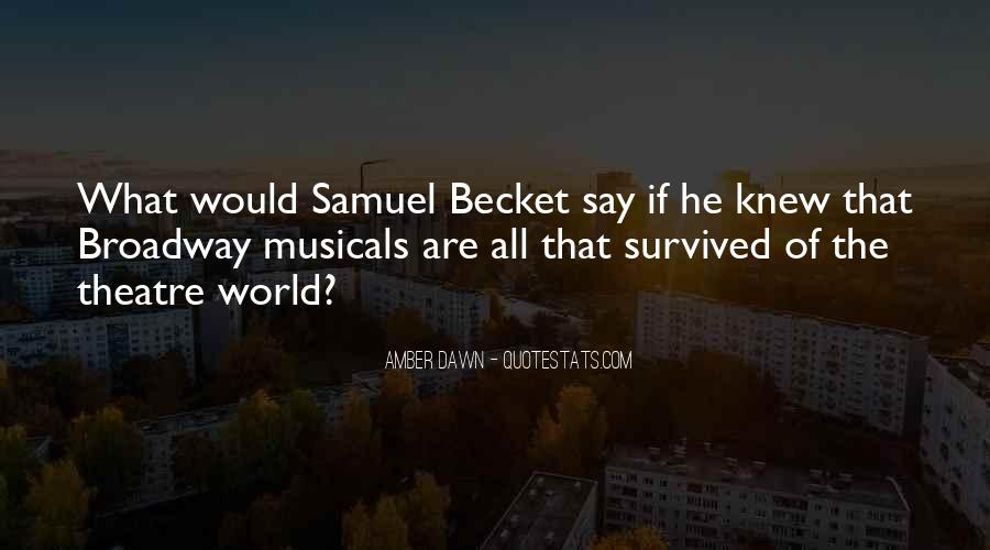 Quotes About Becket #389791