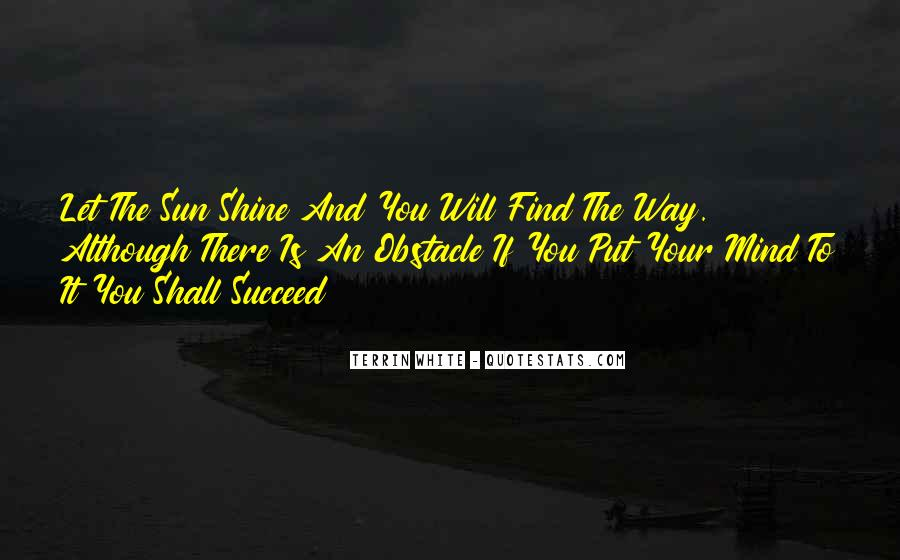 The Way You Shine Quotes #490358