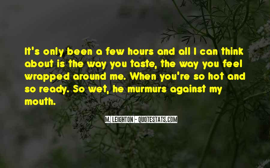 The Way You Taste Quotes #91524