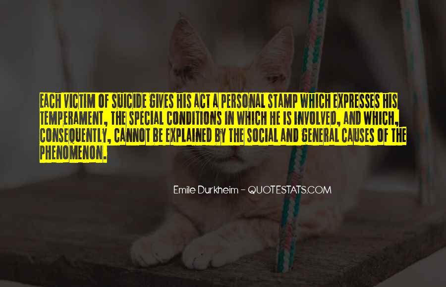 Quotes About Emile Durkheim #1273688