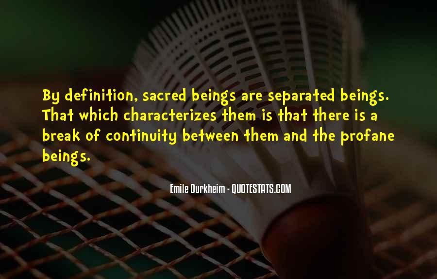 Quotes About Emile Durkheim #1383108