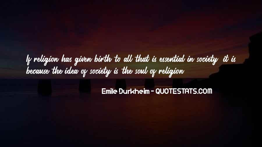 Quotes About Emile Durkheim #1783931