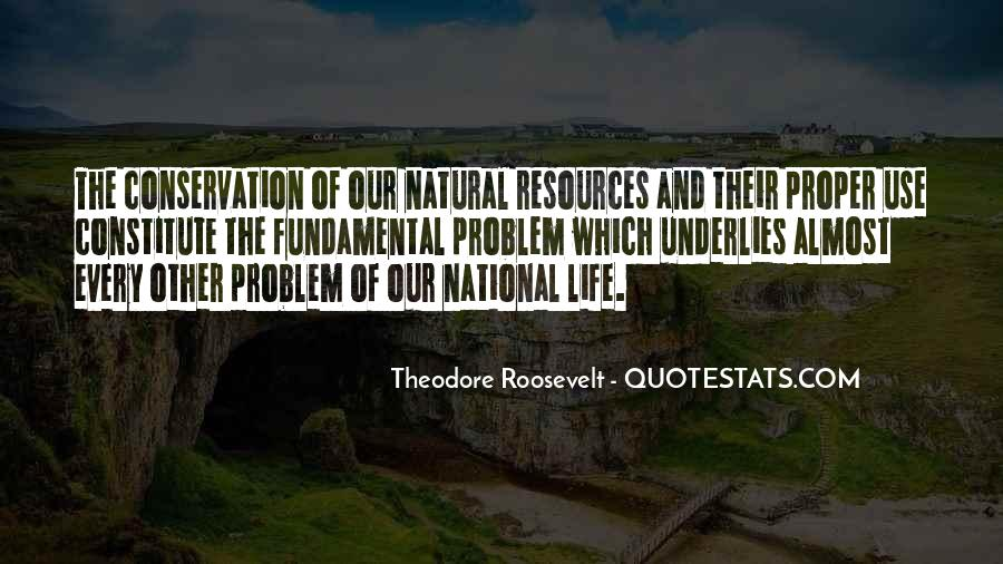 Theodore Roosevelt Natural Resources Quotes #1178761