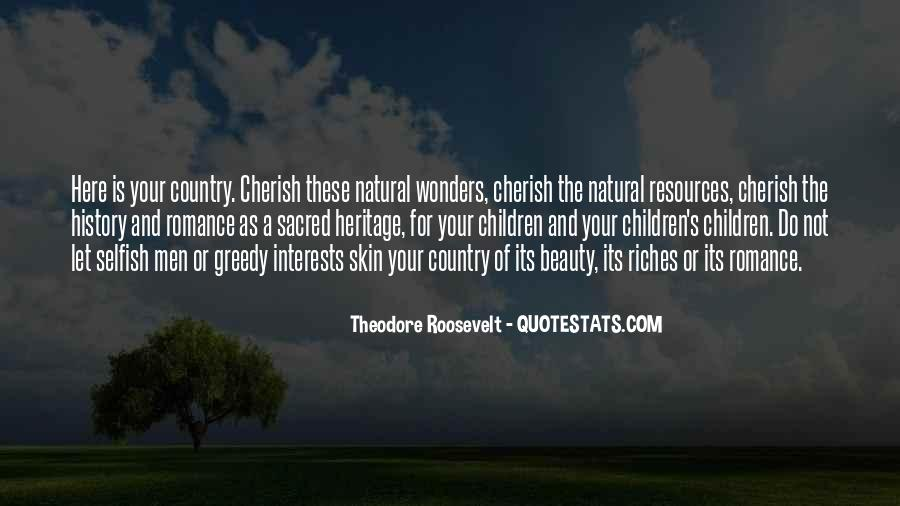 Theodore Roosevelt Natural Resources Quotes #273337