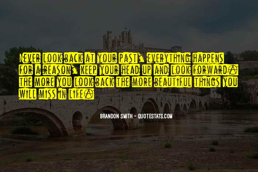 There's No Reason To Look Back Quotes #1811881