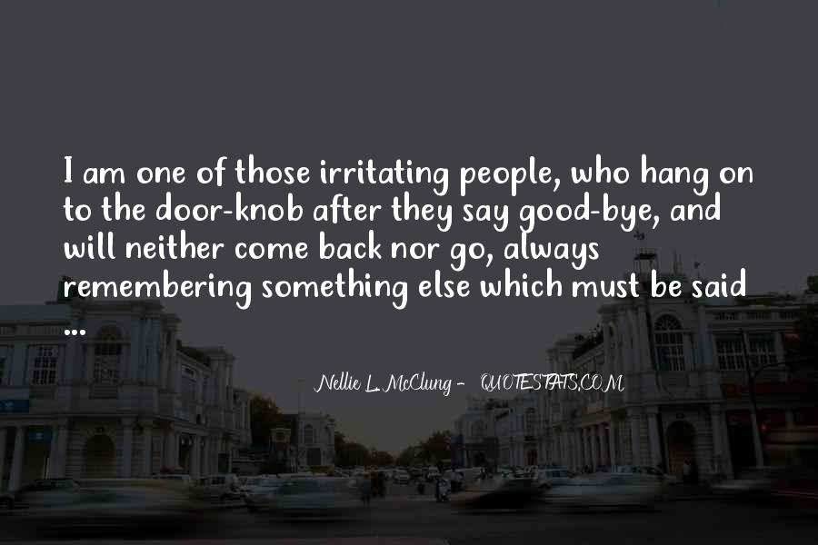 They Come Back Quotes #27388
