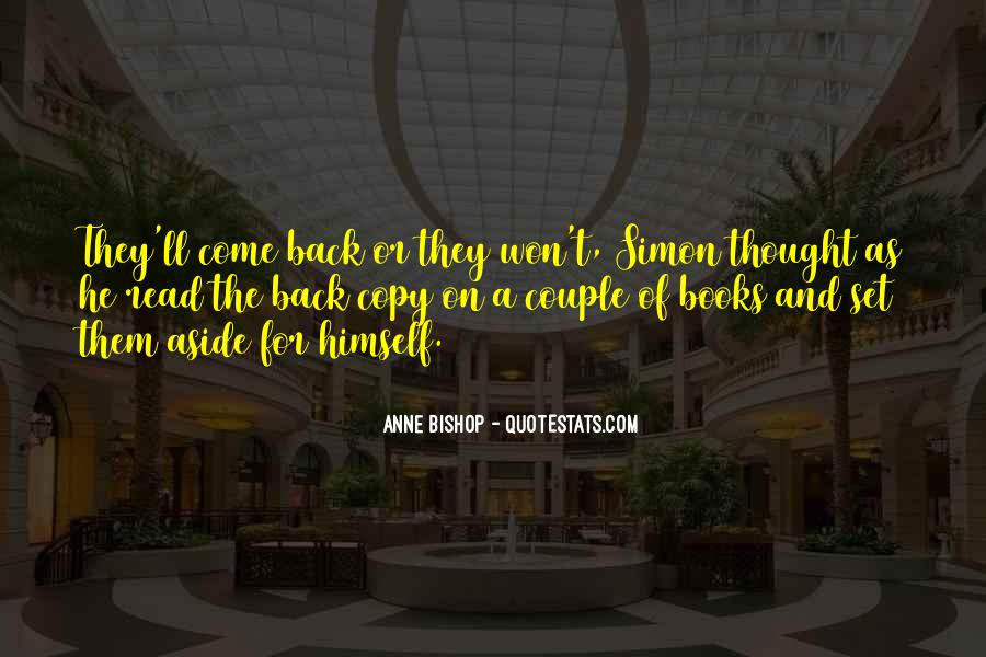 They Come Back Quotes #47035