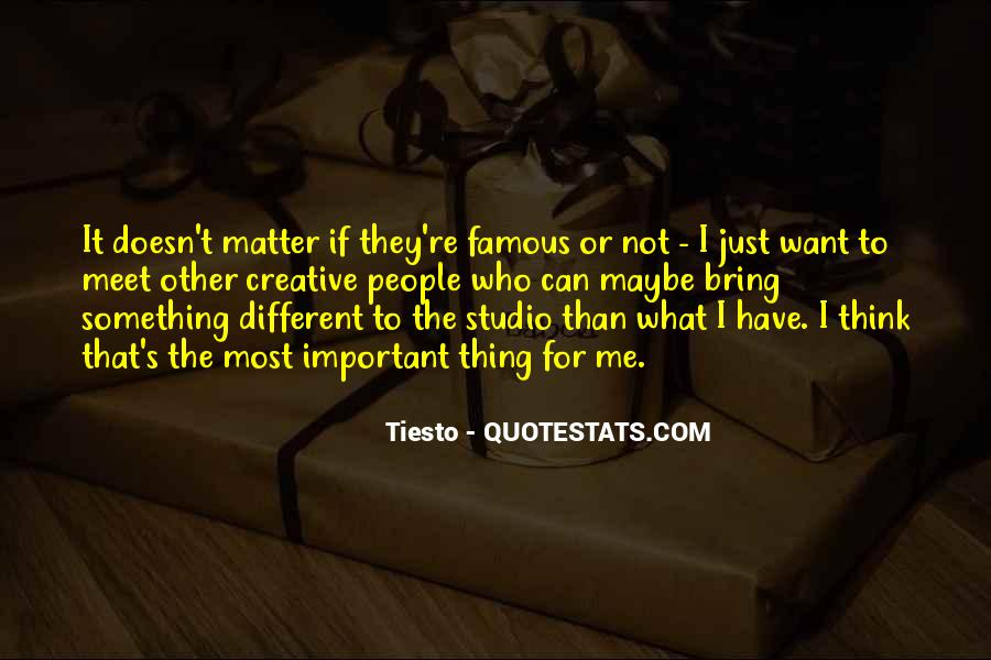 Thing That Matter Quotes #152001