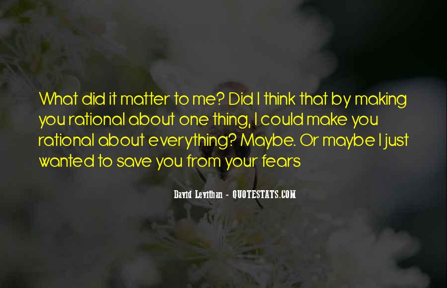 Thing That Matter Quotes #324441