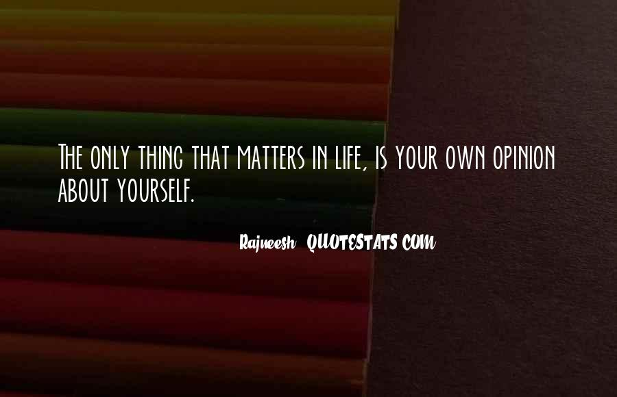 Thing That Matter Quotes #352362