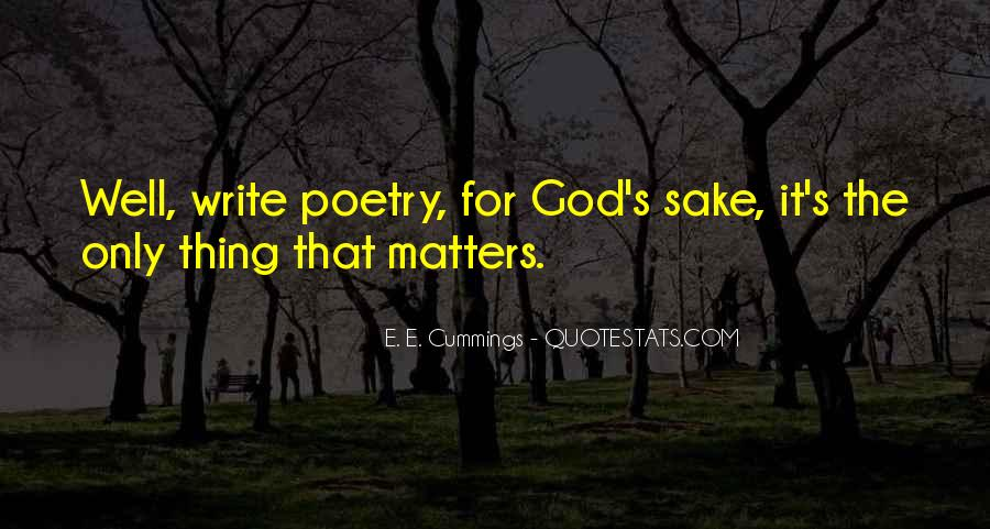 Thing That Matter Quotes #425083