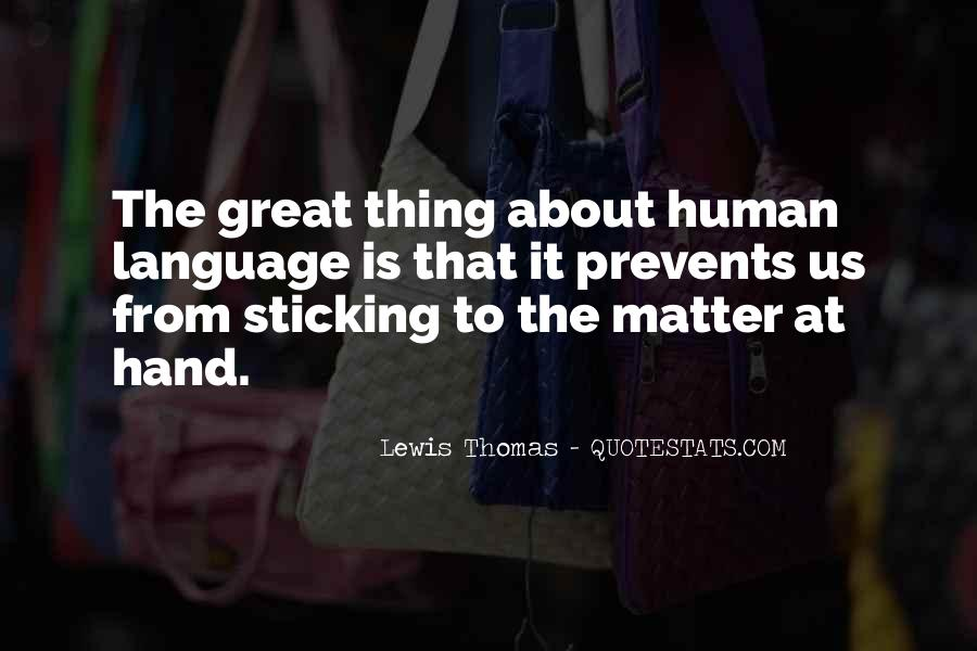 Thing That Matter Quotes #430720