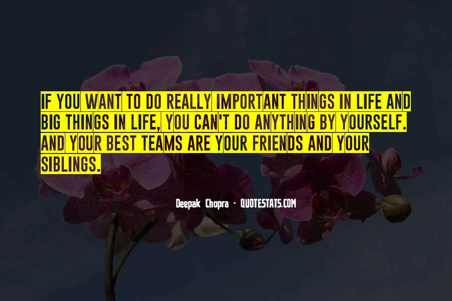 Things Are Important Quotes #109200