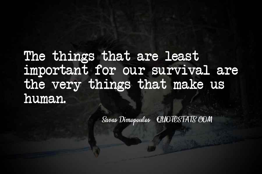 Things Are Important Quotes #115327