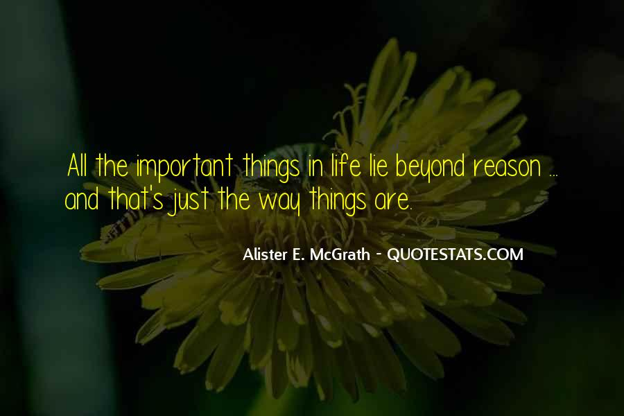 Things Are Important Quotes #22122