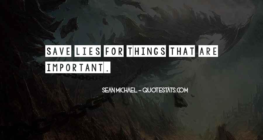 Things Are Important Quotes #63121