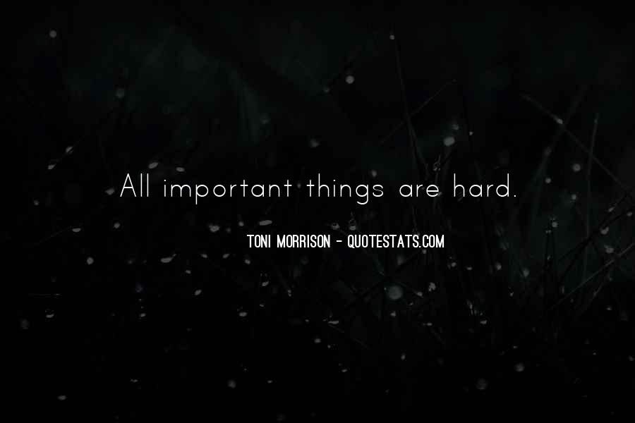 Things Are Important Quotes #77983
