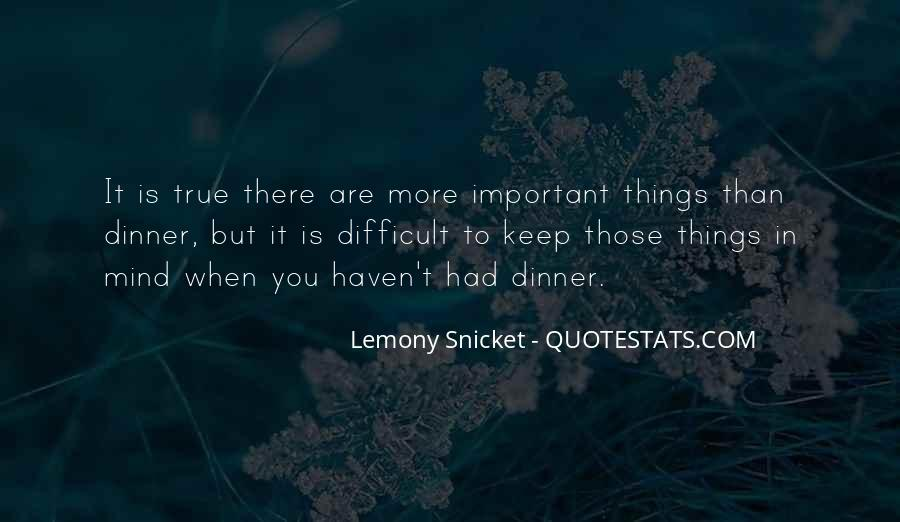 Things Are Important Quotes #81507