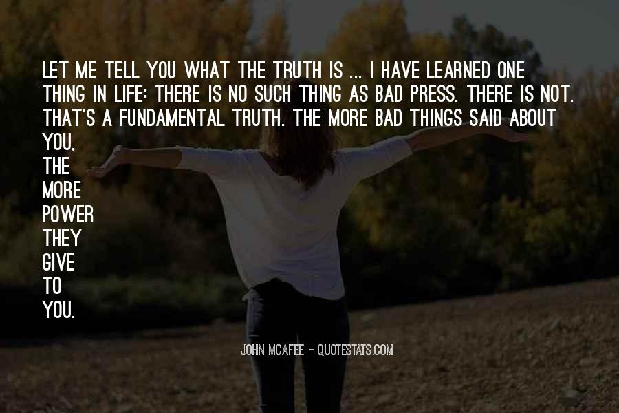 Things Learned In Life Quotes #87313