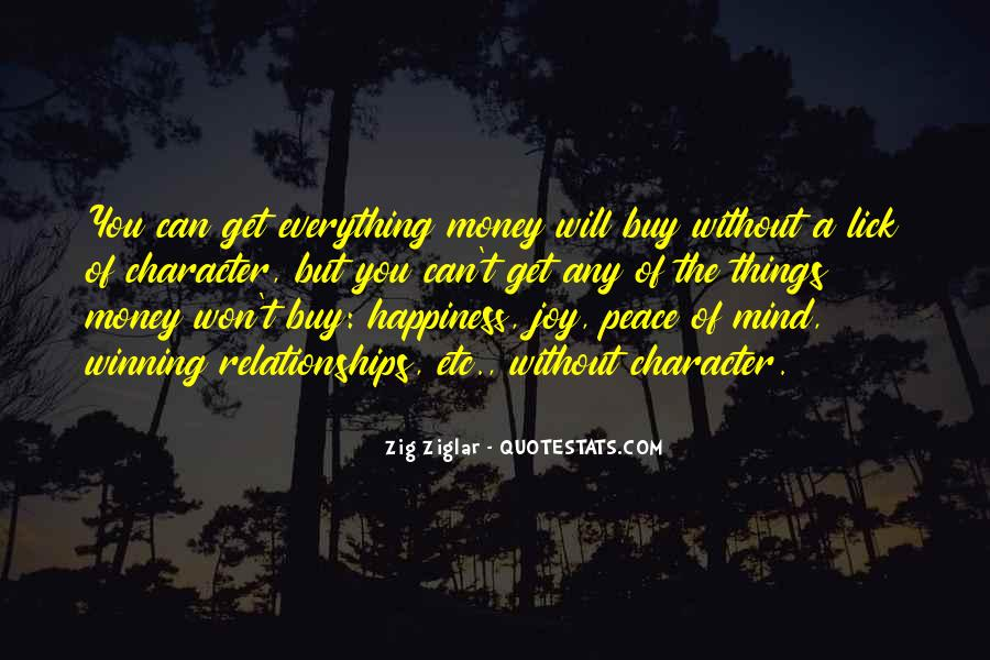 Things You Can't Buy Quotes #1046882