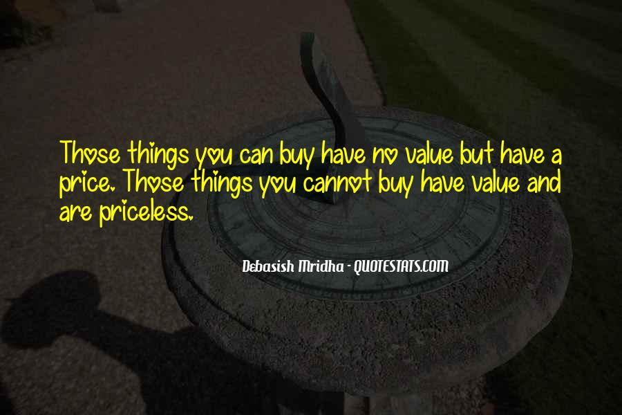 Things You Can't Buy Quotes #247116