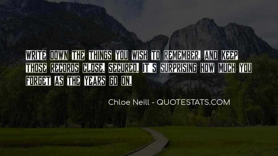 Things You Never Forget Quotes #203786