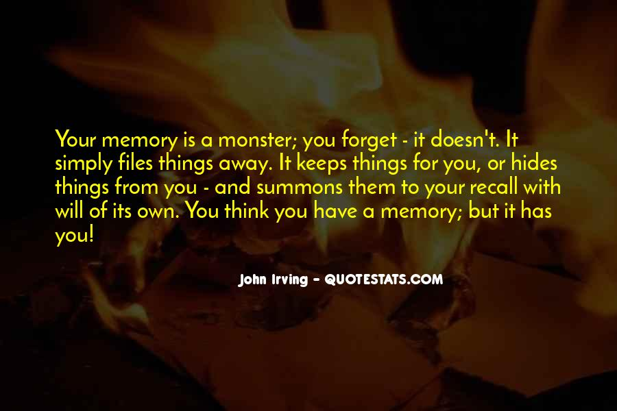 Things You Never Forget Quotes #26985