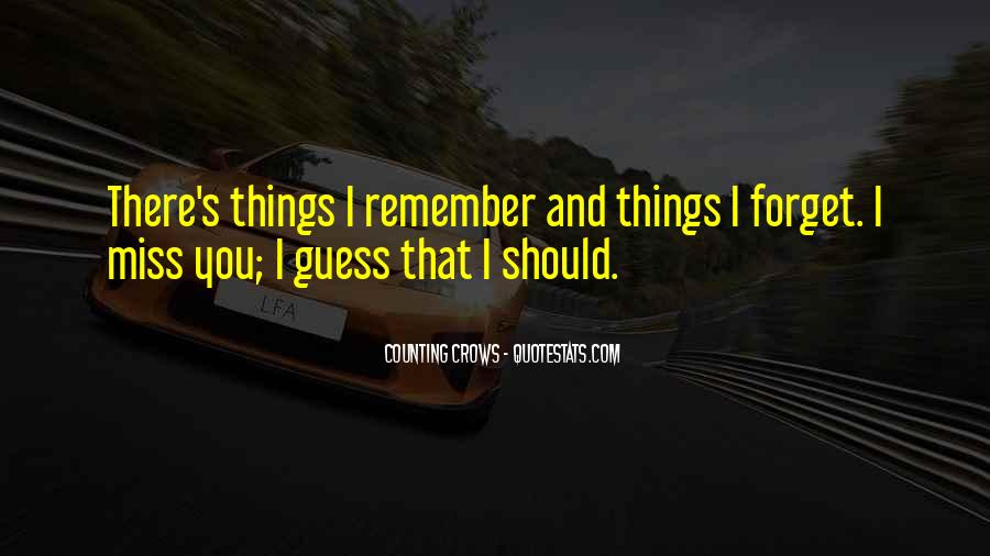 Things You Never Forget Quotes #314119