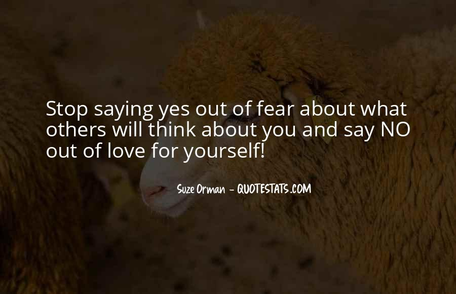Think Love You Quotes #27414