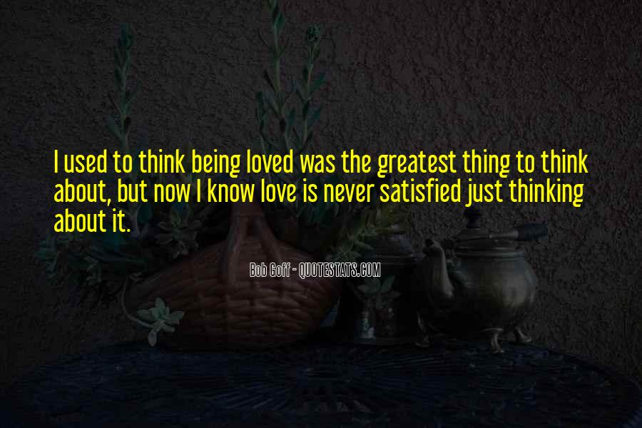 Thinking Love Quotes #70310