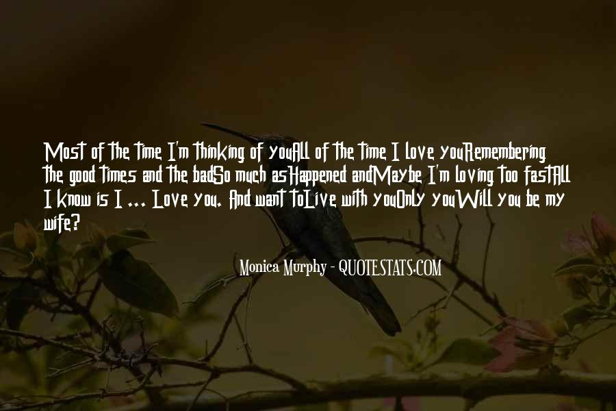 Thinking Love Quotes #88329