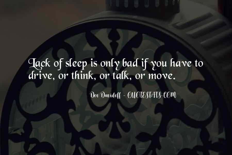 Thinking Too Much To Sleep Quotes #180101