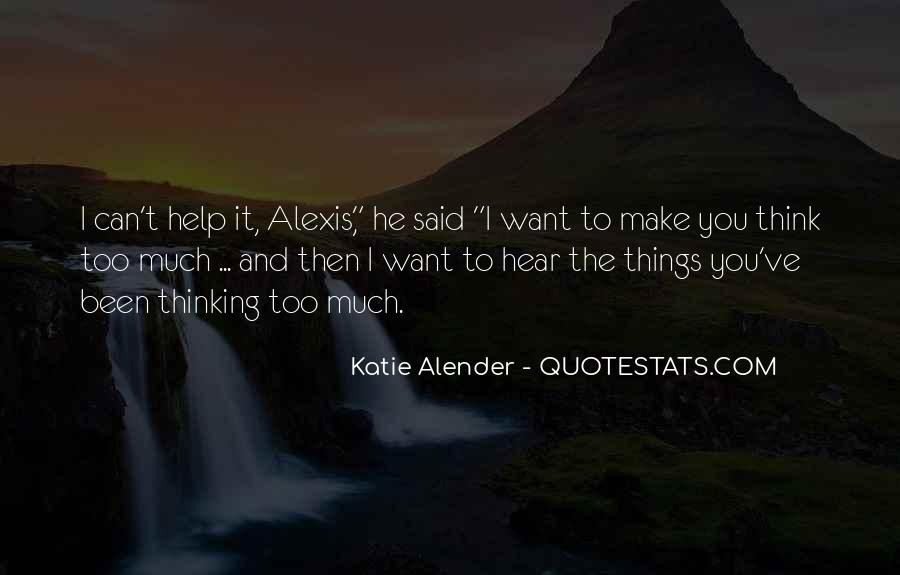 Quotes About Alender #136910