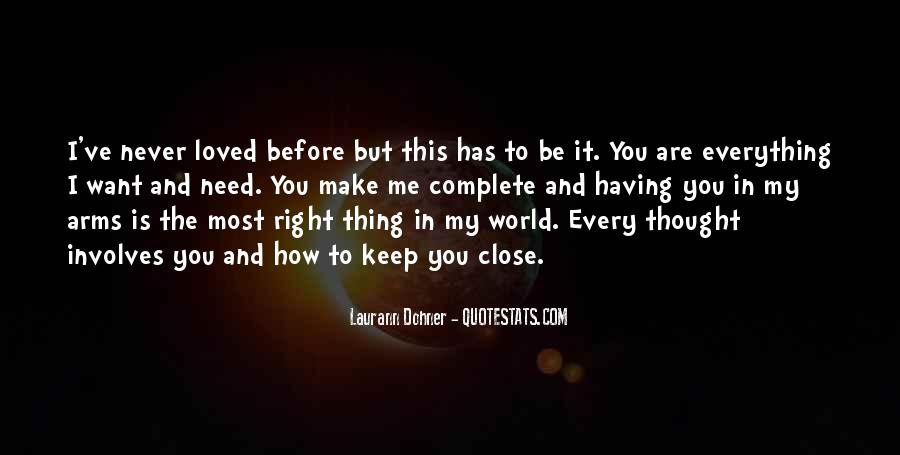 Thought You Loved Me Quotes #926203