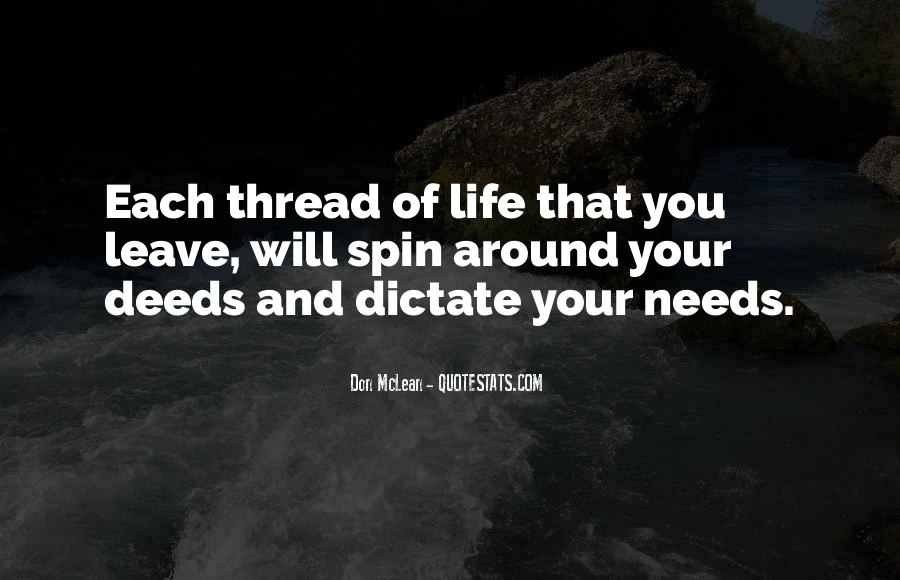 Thread Life Quotes #1145255