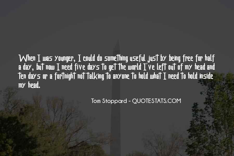 Quotes About Tom Stoppard #246663