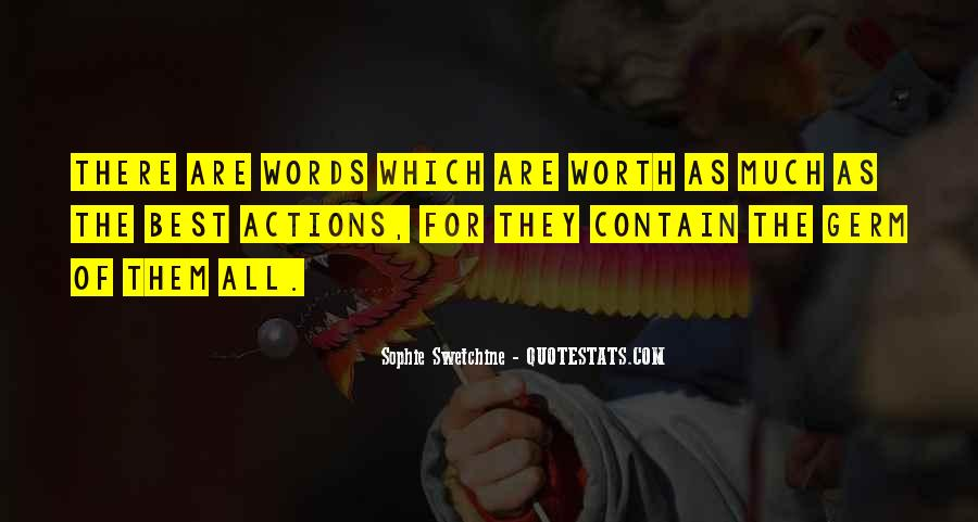 Quotes About Actions Versus Words #70541