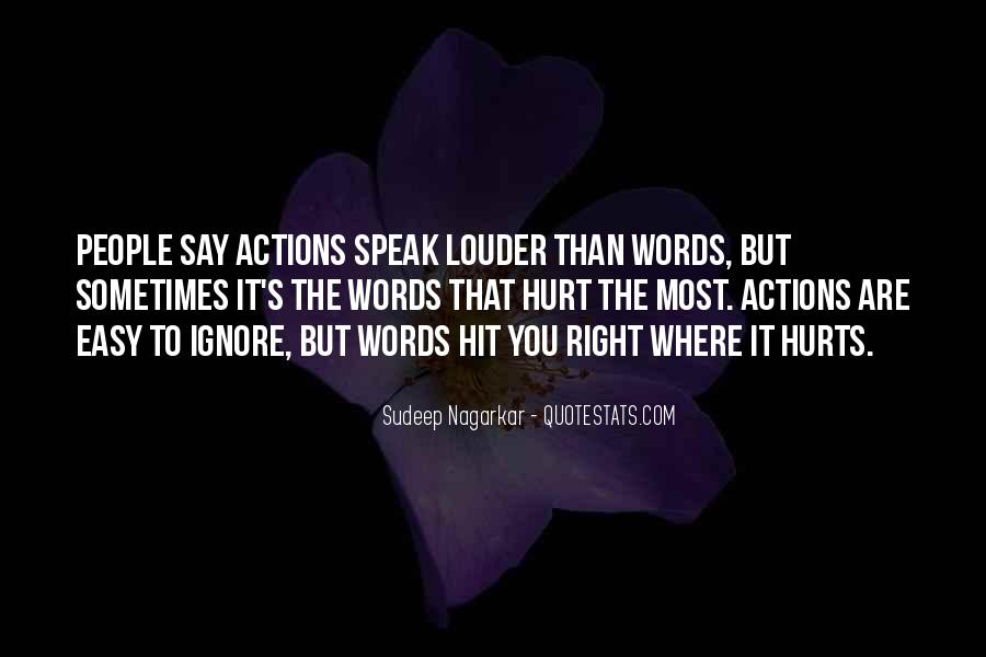 Quotes About Actions Versus Words #94198