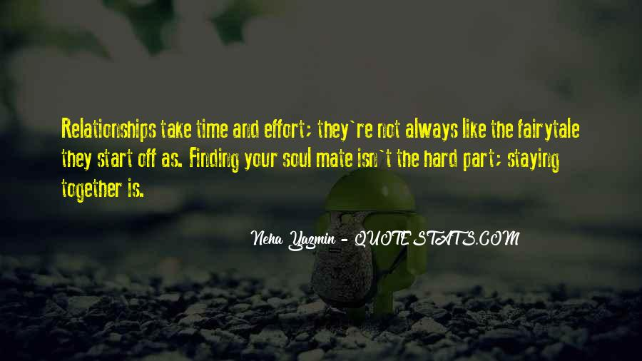 Time And Effort Love Quotes #432076