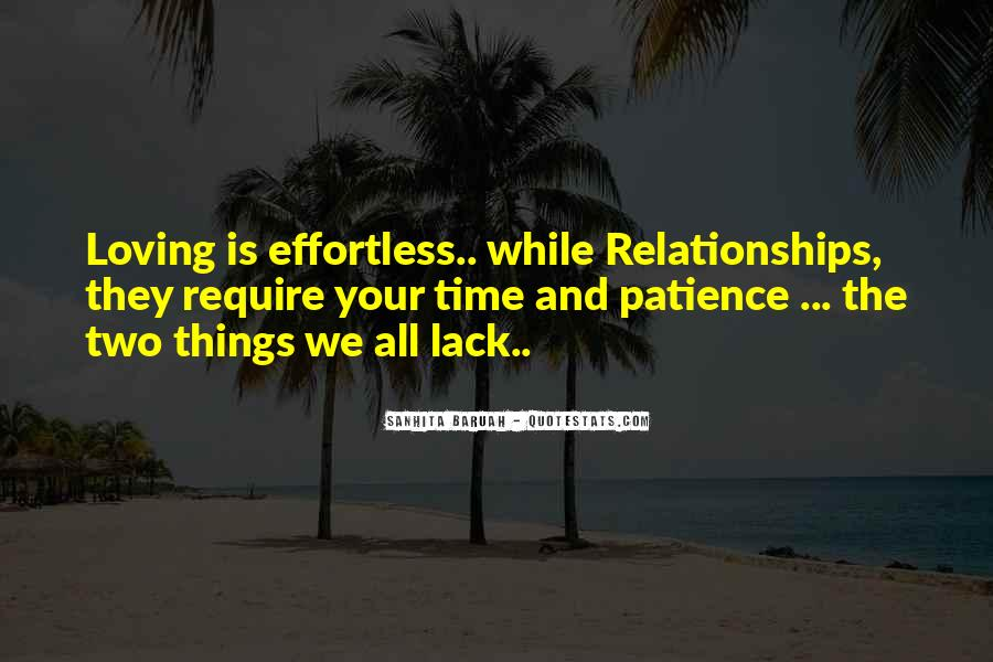 Time And Effort Love Quotes #526576