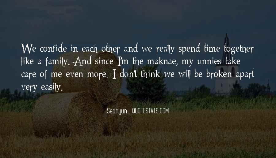 Time Apart Family Quotes #1287550