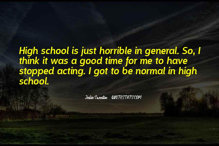 Time In School Quotes #70555